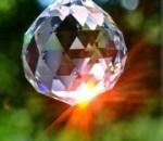 boule cristal à facettes
